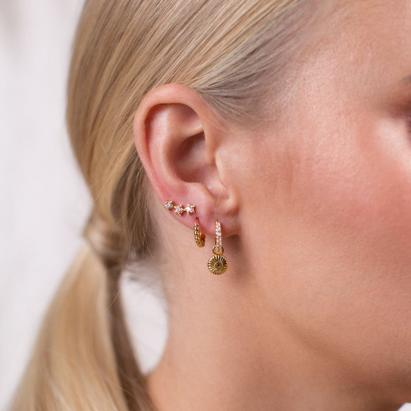 Deco pendant mix & match earrings