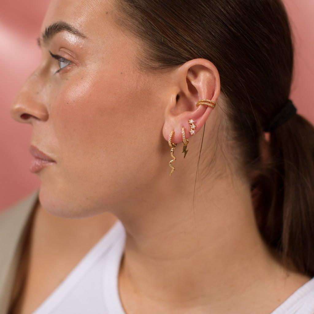 Zirconia gold Ear Cuff