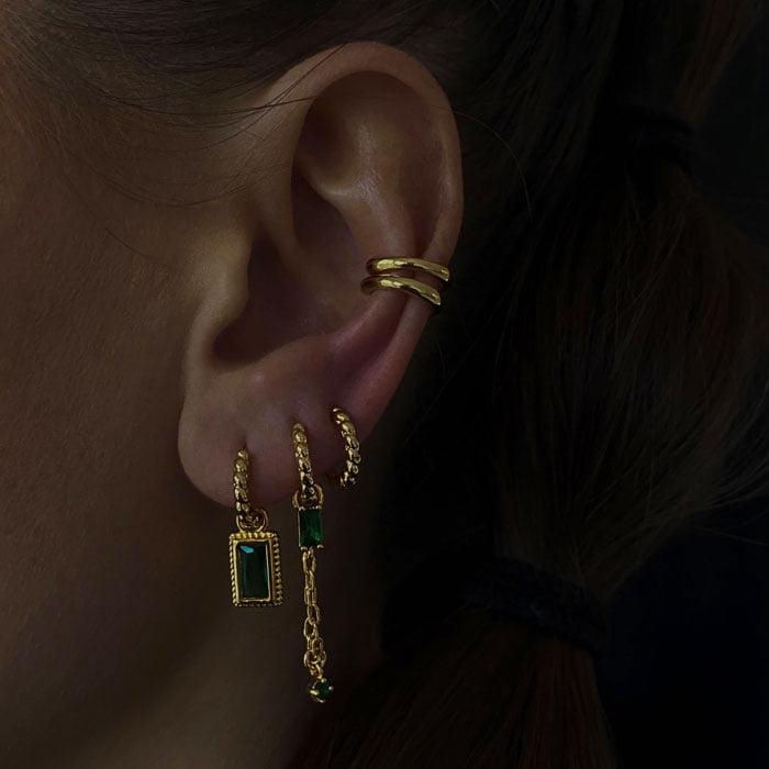 gemstone earring pendant