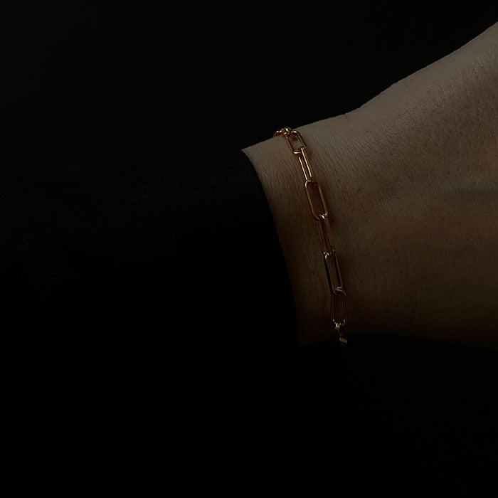 cabla chain bracelet 18k gold plated
