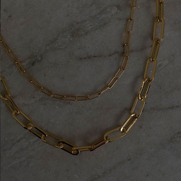 cable chain necklaces in two sizes