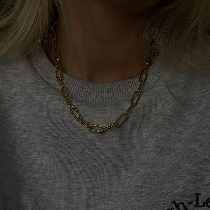 Chunky cable necklace