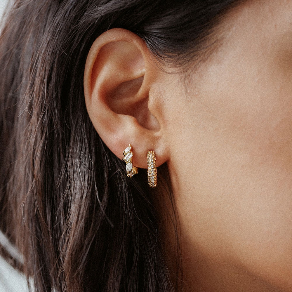 15mm pave hoops and eclipse hoops