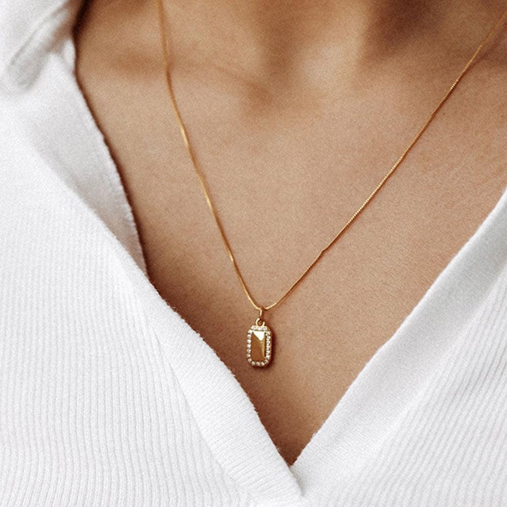 Zirconia Charm necklace