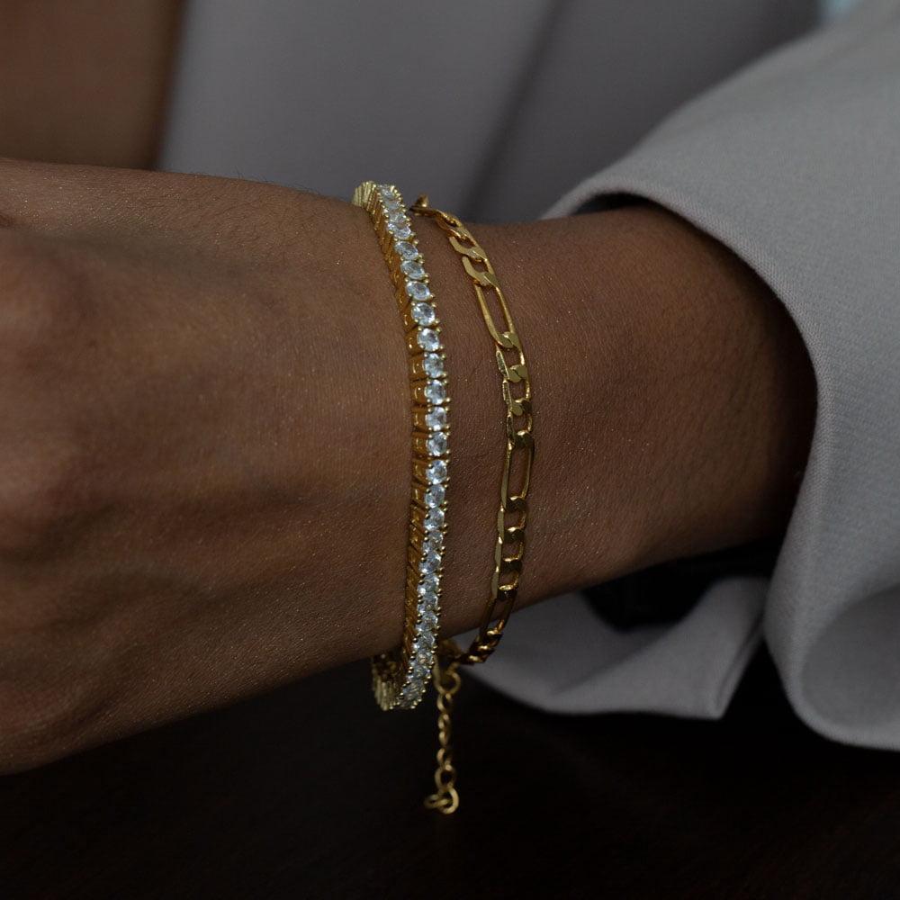 Tennis bracelet detailed with zirconias