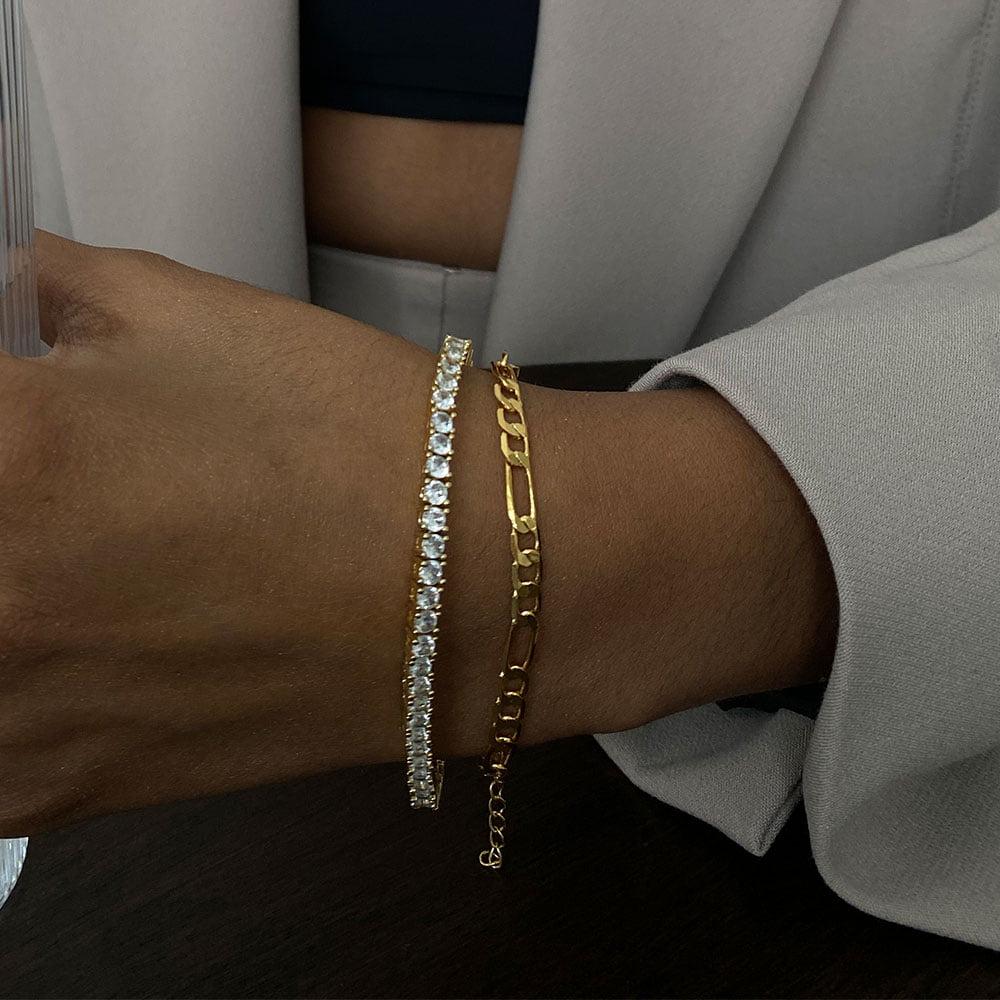 thin figaro bracelet