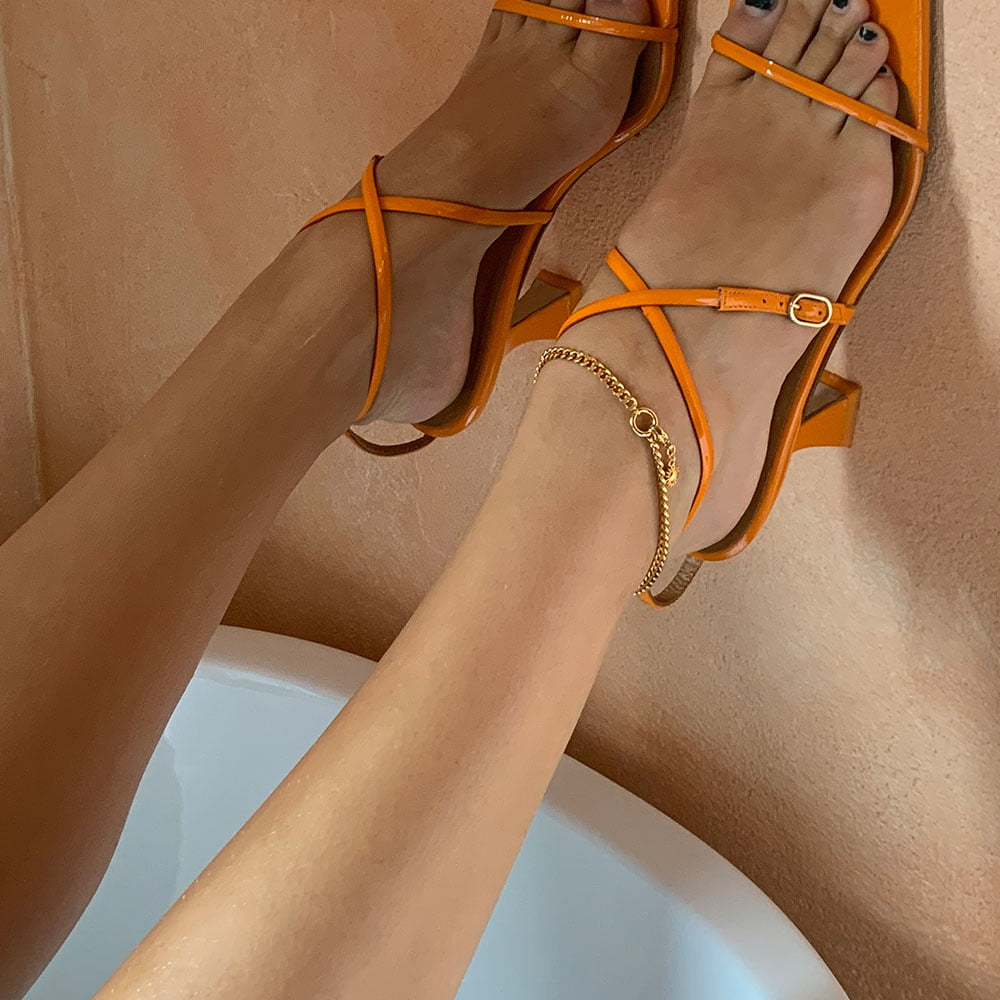 Yellow World Anklet by Elin Warn