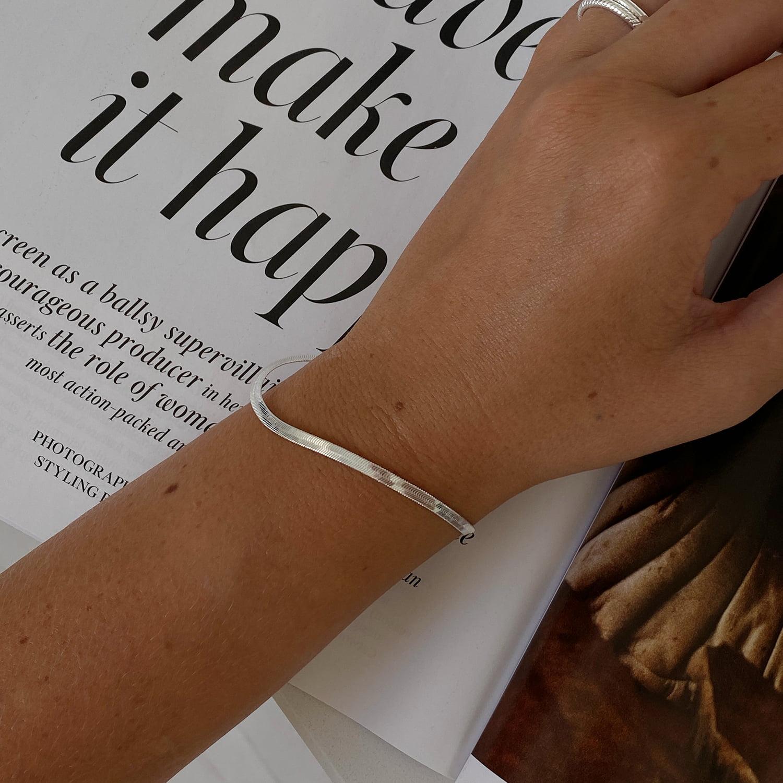 Silver Snake Chain Bracelet